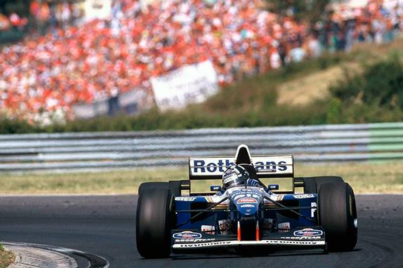 Деймон Хилл на Гран При Венгрии 1995 год
