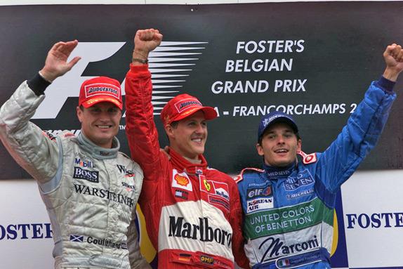 Подиум Гран При Бельгии 2001 года