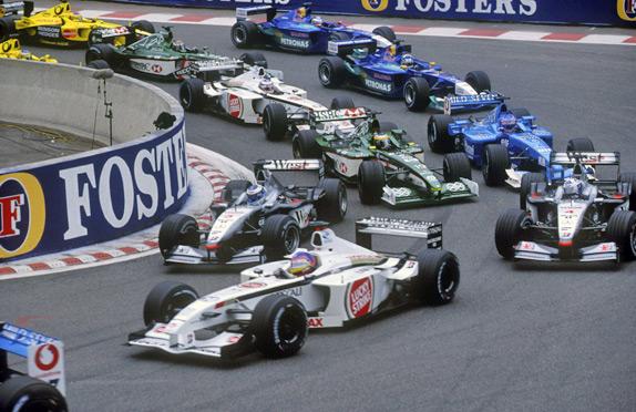 Старт Гран При Бельгии 2001 года