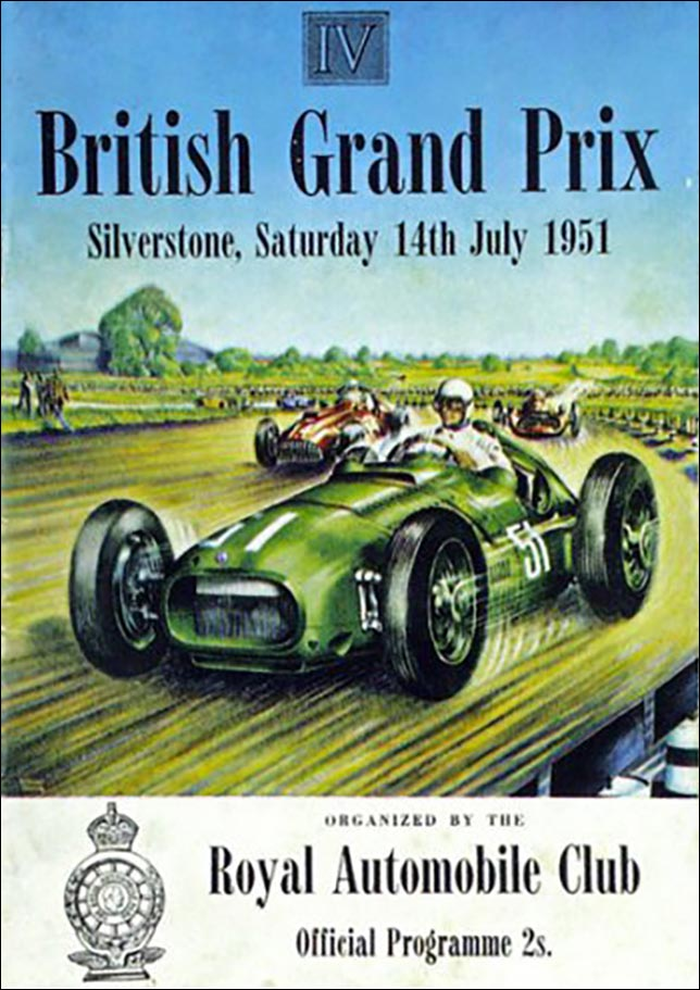 Афиша Гран При Великобритании 1951 года