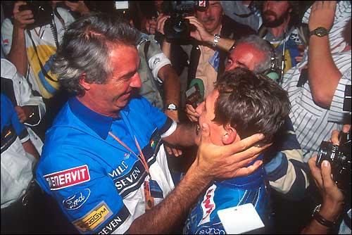 Гран При Австралии'94: Флавио Бриаторе и Михаэль Шумахер