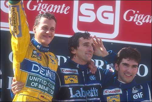 Подиум Гран При Португалии'93