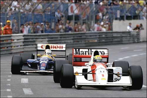 Гран При Монако'92: Айртон Сенна и Найджел Мэнселл