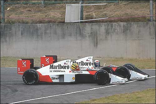 Гран При Японии'89 - столкновение Проста и Сенны