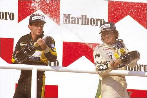 Гран При Венгрии'86: Айртон Сенна и Нельсон Пике