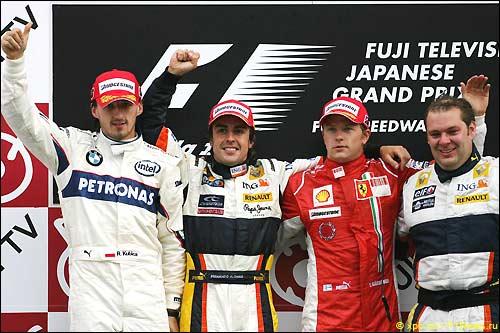 Подиум Гран При Японии