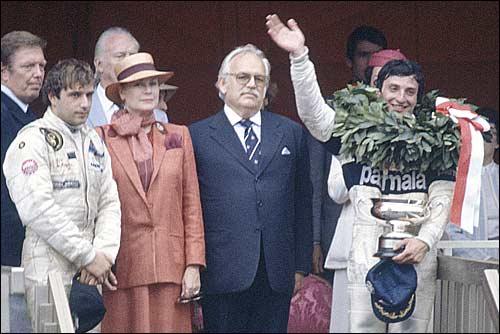 Церемония награждения Гран При Монако'82