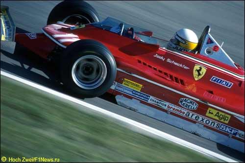 Джоди Шектер за рулем Ferrari 312T4, 1979 год
