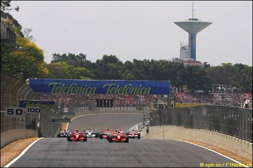 Старт Гран При Бразилии'07