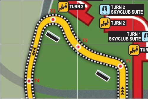 Схема трех первых поворотов Гран При Сингапура