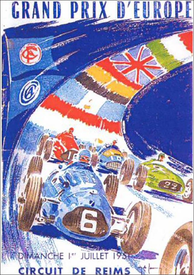 Афиша Гран При Франции 1951 года