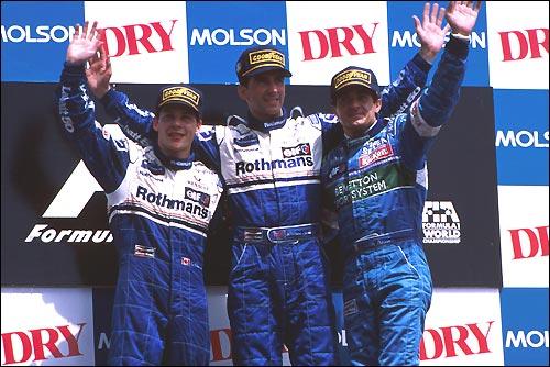 Подиум Гран При Канады'06. Жак Вильнев, Деймон Хилл, Жан Алези