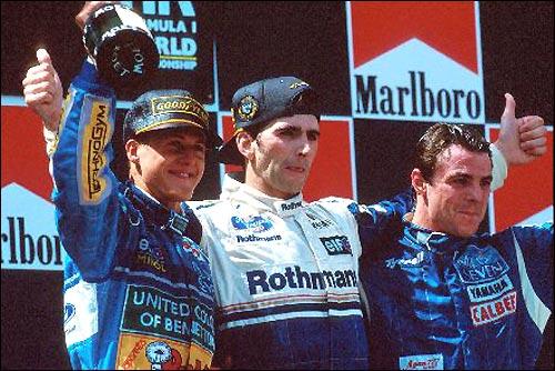 Подиум Гран При Испании'94