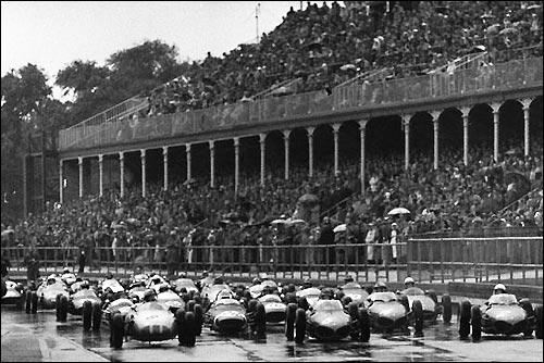 Старт Гран При Великобритании'61