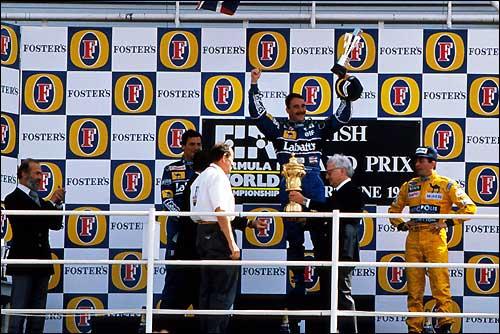 Подиум Гран При Великобритании'92