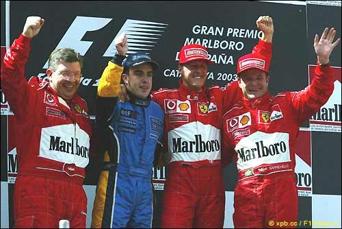 Подиум Гран При Испании'03