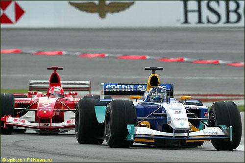 Гран При США 2003 года: Михаэль Шумахер догоняет Хайнца-Харальда Френтцена