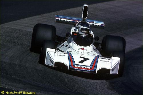 Карлос Рейтеманн на трассе Гран При Германии 1975 г.