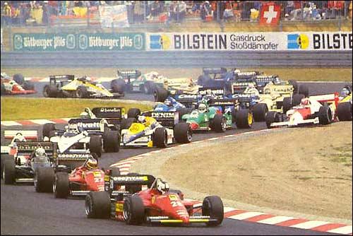 Старт Гран При Германии'85