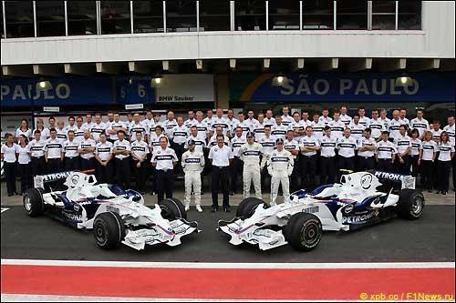 Команда BMW после Гран При Бразилии, 2008 г.