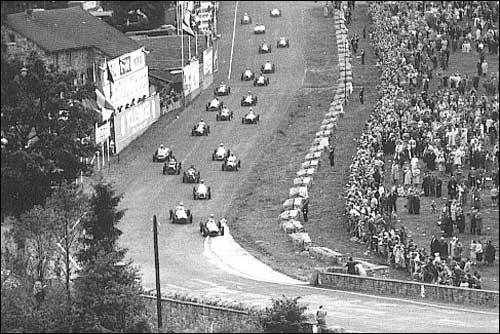 Старт Гран При Бельгии 1952 года
