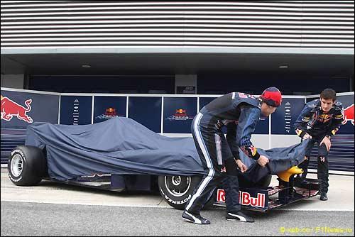 Начало церемонии презентации Red Bull RB5