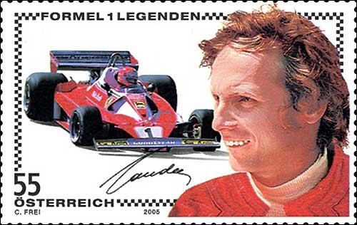 Австрийская почтовая марка, посвященная Ники Лауде