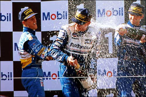 Подиум Гран При Португалии'95