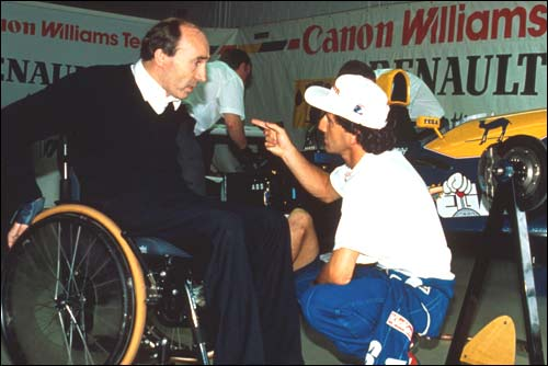 Гран При Германии'93. Последняя победа Проста. Ален Прост и Фрэнк Уильямс, разговор в боксах.