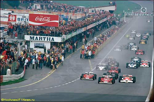 Старт Гран При Австрии 1977 года