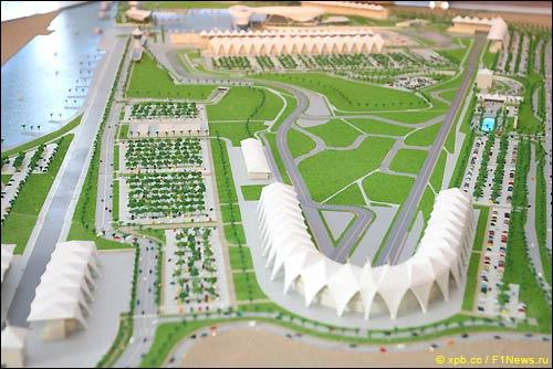 Макет трассы в Абу Даби