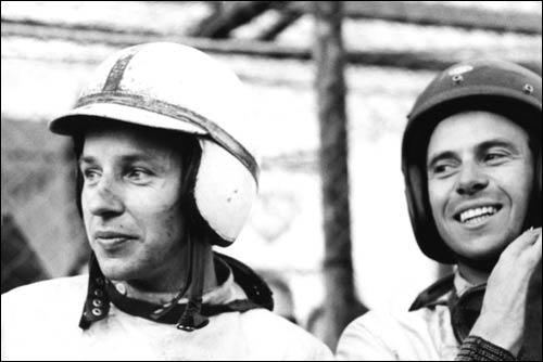 Джон Сертис и Джим Кларк. Гран При Германии'63