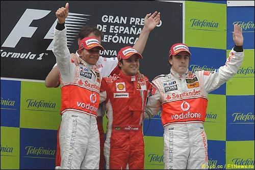 Подиум Гран При Испании 2007