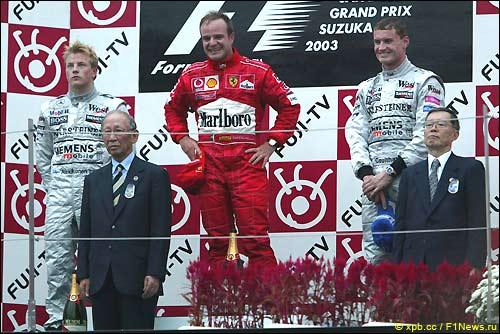 Подиум Гран При Японии'03