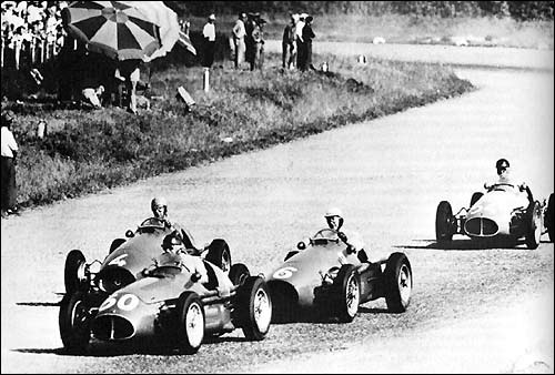 Финиш Гран При Италии 1953 года