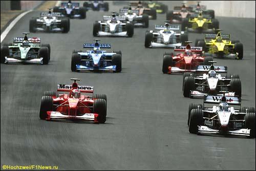 Старт Гран При Бразилии 2000 года