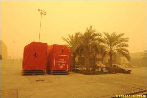 Февральская песчаная буря в Бахрейне