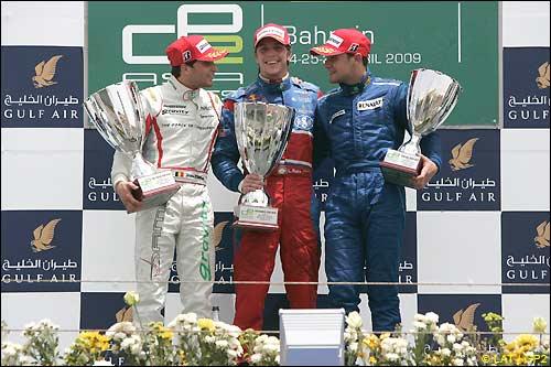 Подиум воскресной гонки GP2