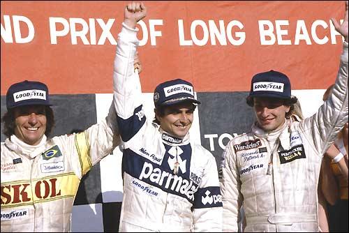 Подиум Гран При США - Лонг-Бич'80