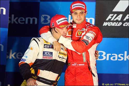 Фернандо Алонсо и Фелипе Масса - будущие напарники? Гран При Бразилии, 2009 год