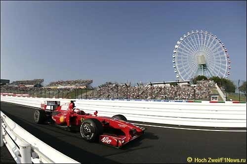 Кими Райкконен во время Гран При Японии