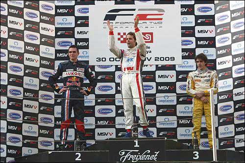Подиум субботней гонки F2