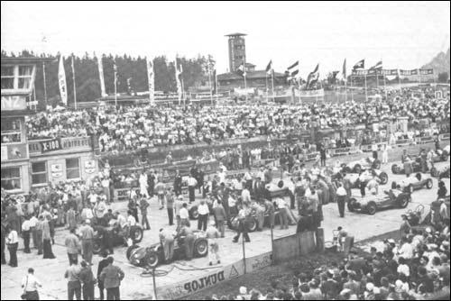 Гран При Германии'51. Стартовое поле