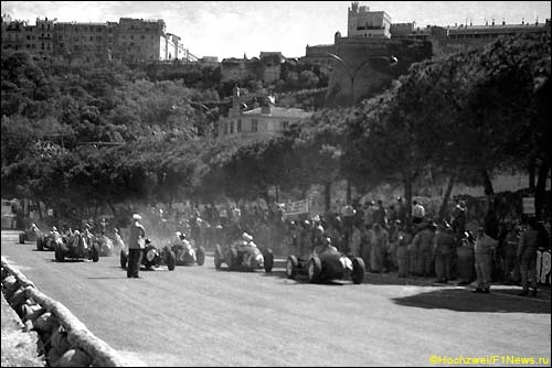 Старт Гран При Монако'57