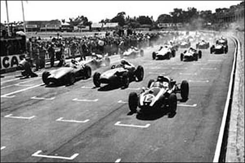 Старт Гран При Великобритании'59