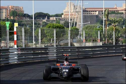 Антон Небылицкий на дебютном для команды KMP Group/SG Formula этапе в Монако
