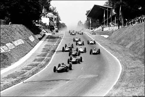 Старт Гран При Франции 1962 года в Руане