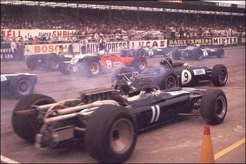 Старт Гран При Великобритании 1967 года