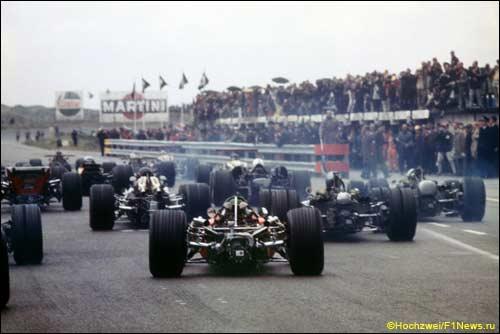 Старт Гран При Голландии 1968 года