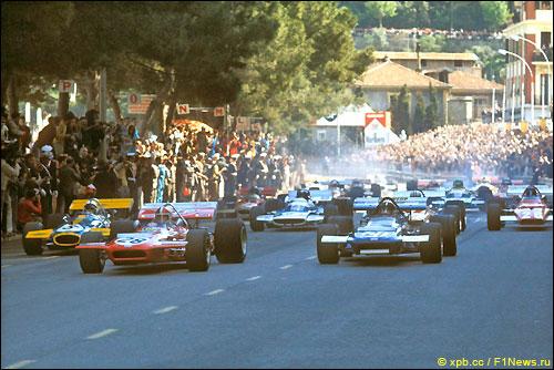 Старт Гран При Монако'70